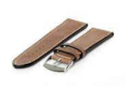 Uhrenarmband 20mm Braun Leder