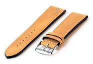 Uhrenarmband 20mm gelb Kalbsleder