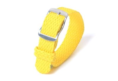 Perlon Uhrenarmband 16mm gelb
