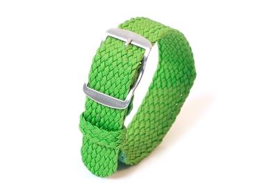 Perlon Uhrenarmband 16mm grün