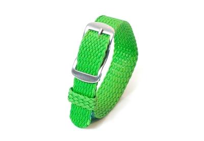 Perlon Uhrenarmband 14mm grün