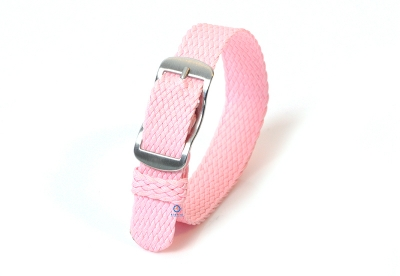 Perlon Uhrenarmband 14mm rosa