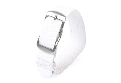 Perlon Uhrenarmband 16mm weiß