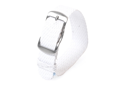 Perlon Uhrenarmband 14mm weiß