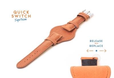 Uhrenarmband 18mm Braun Leder (Flieger)