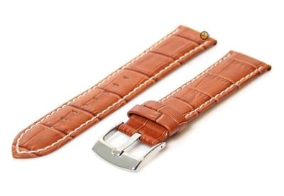 Cognac brown Uhrenarmband - 24mm Leder