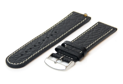 Tauchmeister 1937 Uhrenarmband 24mm Schwarz Leder