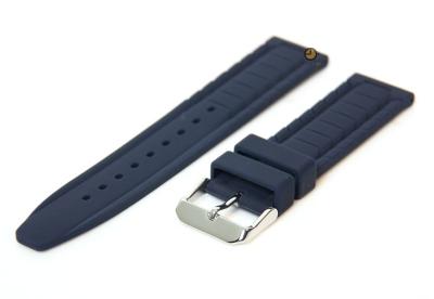 Uhrenarmband 18mm Blau Kautschuk