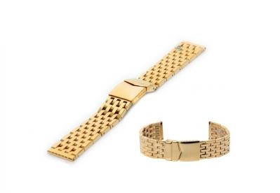 Uhrenarmband 20mm Gold  Leder