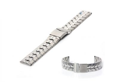 Uhrenarmband 22mm Silber Stahl matt/poliert (teilweise)