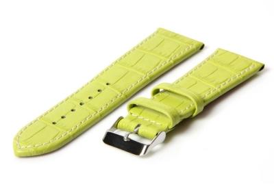 Uhrenarmband 36mm Gün Leder mit Kroko-Druck