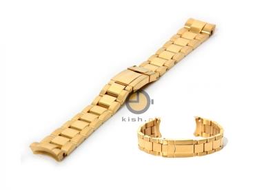 Uhrenarmband 20mm RLX Gold Stahl