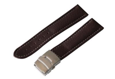 Uhrenarmband 26mm Braun Leder mit Faltschließe