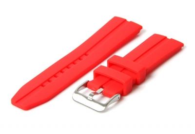 Uhrenarmband 22mm Rot Kautschuk