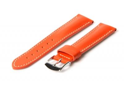 Uhrenarmband 14mm Orange Leder
