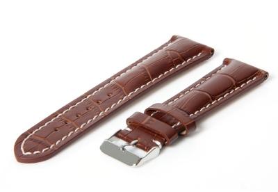 Gisoni Uhrenarmband 24mm Braun Leder (Dornschließe)