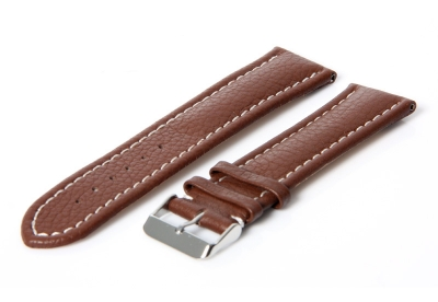 Gisoni Uhrenarmband 20mm Braun Leder (Dornschließe)