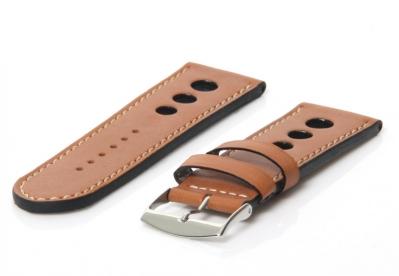 Uhrenarmband 26mm Braun Leder (Racing)