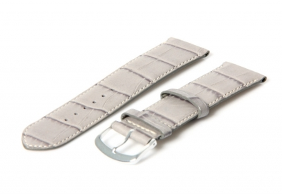 Hellgraues Uhrenarmband von Leder - 22mm