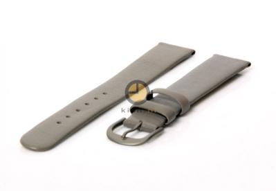 Danish Design Uhrenarmband 16mm Grau Leder
