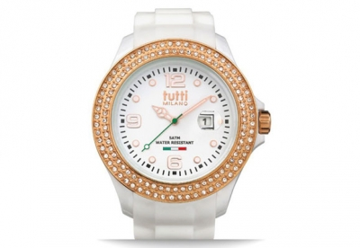 Tutti Milano Uhrenarmband Weiß TM004-WHRO