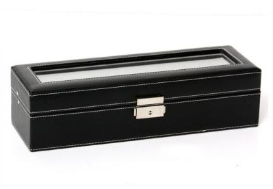 Gisoni Uhrenbox für 6 Uhren schwarz