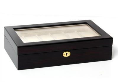 Uhrenbox für 12 Uhren ebony