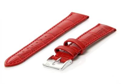 Uhrenarmband 16mm Rot Leder