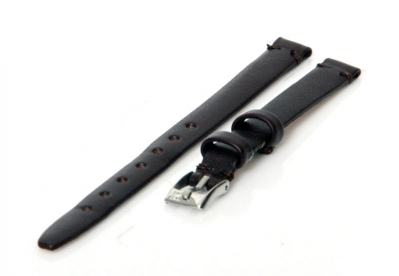 Uhrenarmband 8mm Dunkelbraun Leder