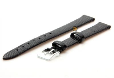 Uhrenarmband 12mm Schwarz Leder