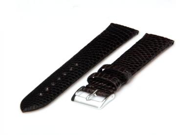 Uhrenarmband 14mm Schwarz Leder