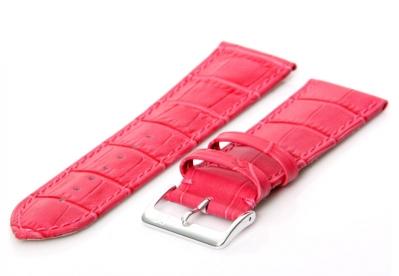 Uhrenarmband 26mm Rosa Leder extra lang