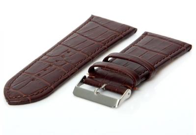 Uhrenarmband 36mm Dunkelbraun Leder
