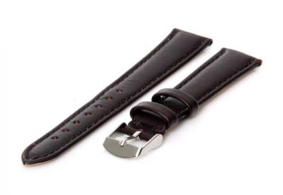 Uhrenarmband 15mm Dunkelbraun Kalbsleder