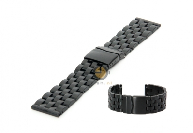 Uhrenarmband 26mm Stahl Schwarz