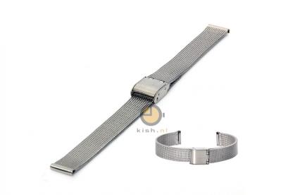 Uhrenarmband 12mm Silber Mailänder Stahl