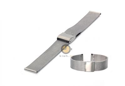 Uhrenarmband 16mm Silber Mailänder Stahl