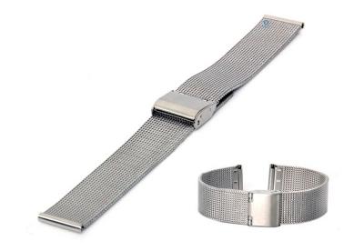 Uhrenarmband 20mm Silber Mailänder Stahl