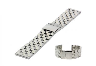 Uhrenarmband 26mm Silber Stahl poliert