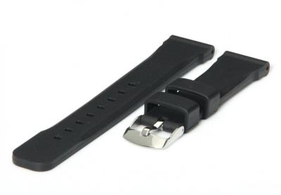 Uhrenarmband 18mm Schwarz Kautschuk