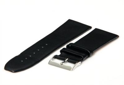 Uhrenarmband 26mm Schwarz nahtloses Leder