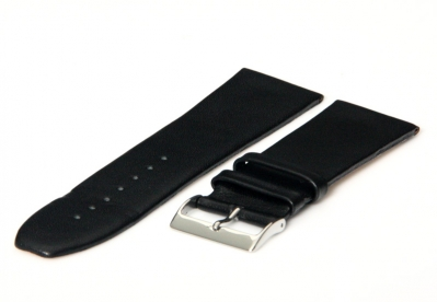 Uhrenarmband 28mm Schwarz nahtloses Leder