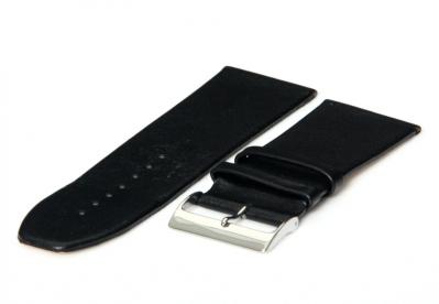 Uhrenarmband 30mm Schwarz nahtloses Leder