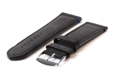 Uhrenarmband 26mm Schwarz Kalbsleder