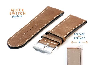 Uhrenarmband 26mm Braun Leder