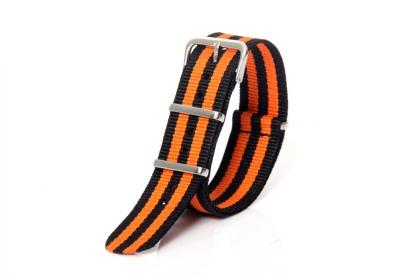 Nato-Band 20mm orange/schwarz