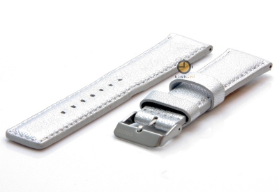 Oozoo Uhrenarmband 22mm Silber Leder