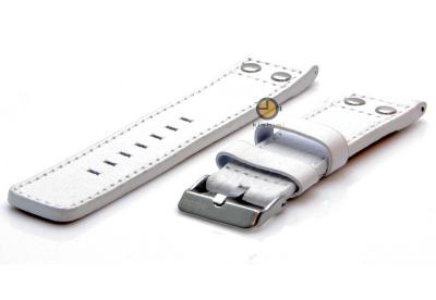 Oozoo Uhrenarmband 22mm Weiß Leder