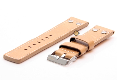 Oozoo Uhrenarmband 22mm beige Leder