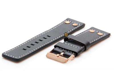 Oozoo Uhrenarmband 24mm Grau Leder